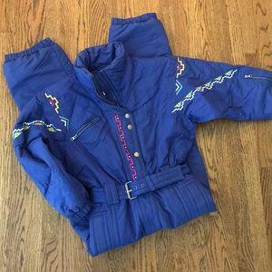 Vintage 1980s one piece ski suit Southwestern 8